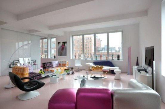 Vivacious Apartment Of Karim Rashid In Juicy Colors