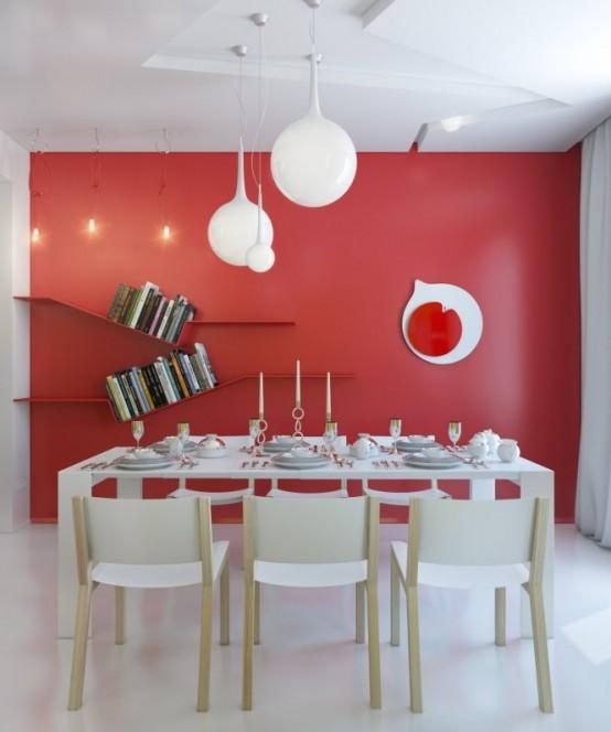 Vivacious Colorful Interior Design Of A Small Apartment