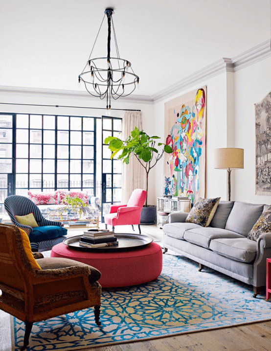 Vivacious Manhattan Townhouse With Eclectic Interiors Digsdigs