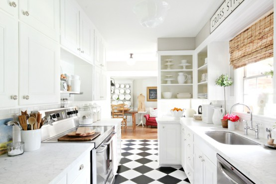 Vivacious Modern White Kitchen With Chalkboard Details