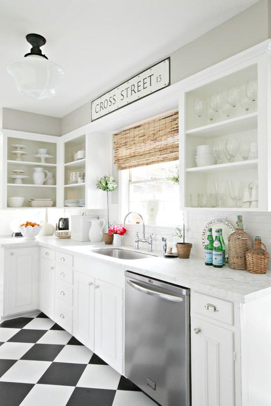 Vivacious Modern White Kitchen With Chalkboard Details