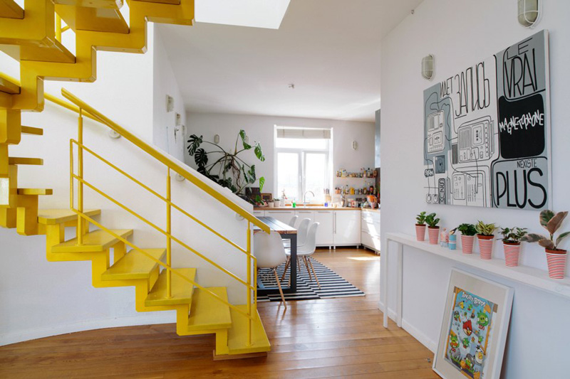 Vivacious Two-Storey Apartment With Bright Accents
