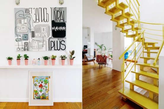 Vivacious Two Storey Apartment With Bright Accents