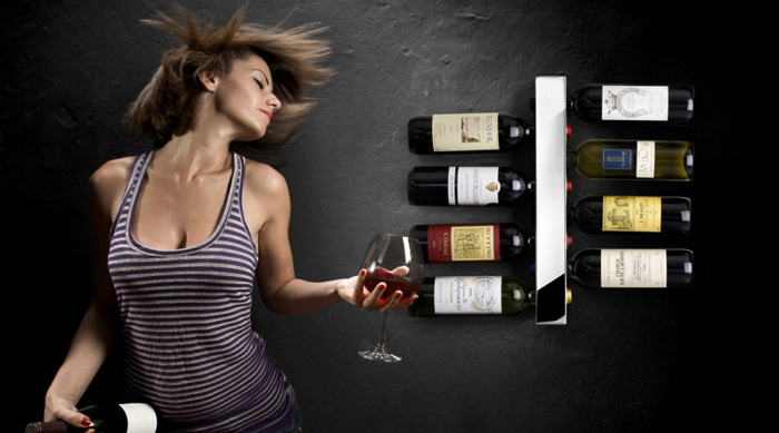 Vynebar – Vertical Wine Rack That Looks Nice and Is Easy To Install