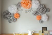 wall decor for a gender neutral baby shower