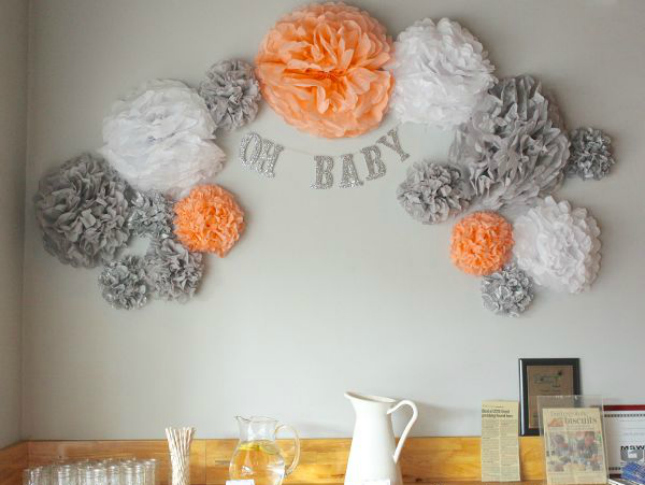 41 gender neutral baby shower d cor ideas that excite for Baby shower wall decoration ideas