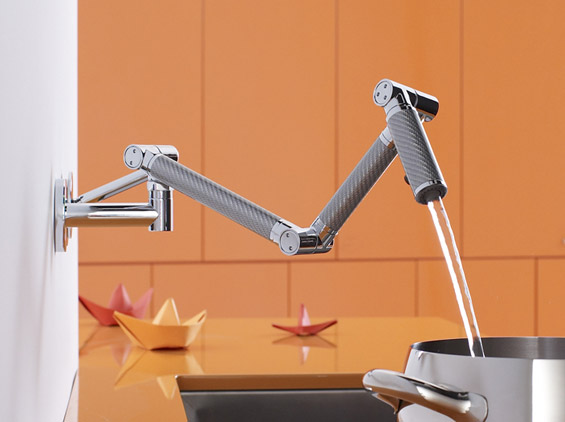 Wall-Mount Kitchen Faucet by Kohler | DigsDigs