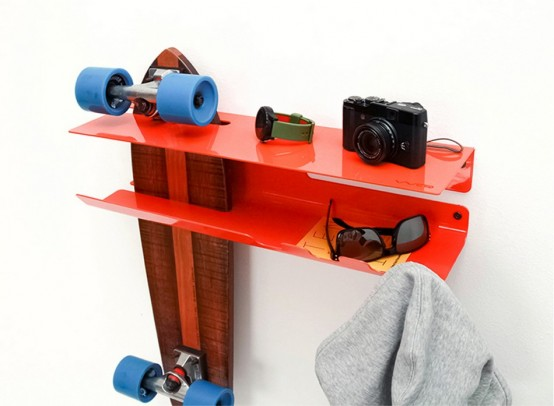 Beau Wall Ride Rack For Displaying Your Skateboard Digsdigs