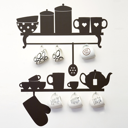 original wall stickers for kitchen design digsdigs. Black Bedroom Furniture Sets. Home Design Ideas