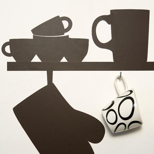 Wall Stickers Kitchen Design : Original wall stickers for kitchen design digsdigs