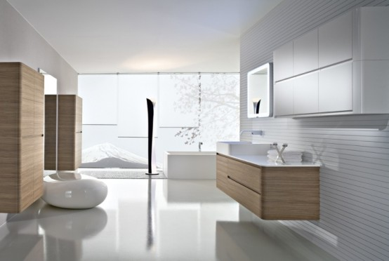 Walnut Bathroom Furniture With Rounded Corners Seventy By Idea Group