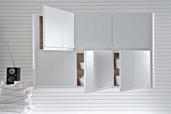 walnut bathroom furniture with rounded corners seventy. Black Bedroom Furniture Sets. Home Design Ideas