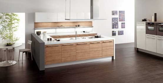 Daniela walnut wood kitchen