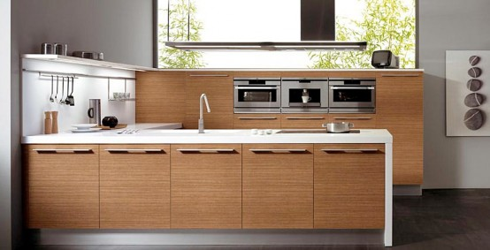 walnut wood kitchen sintesi