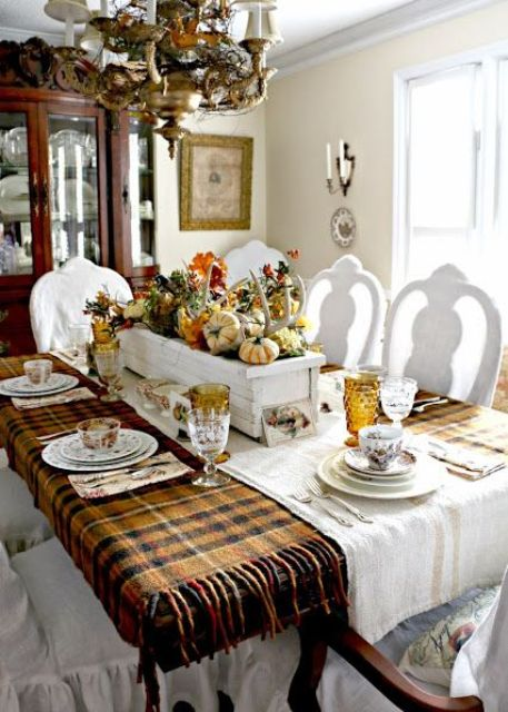32 Warm And Cozy Plaid D 233 Cor Ideas For Thanksgiving Digsdigs