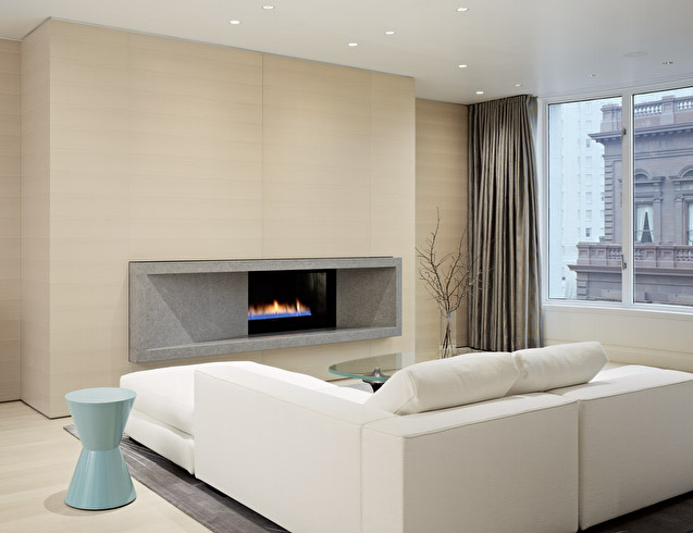 Warm soft and minimalist apartment interior design by for Minimalist apartment living room
