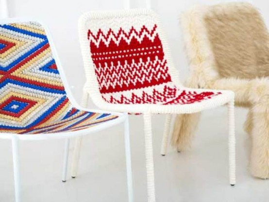 Cozy Warm Clothing For Simple Metal Chairs
