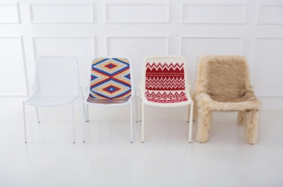 Warm Clothing For Simple Metal Chairs
