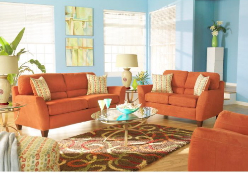 Warm Colored Living Room