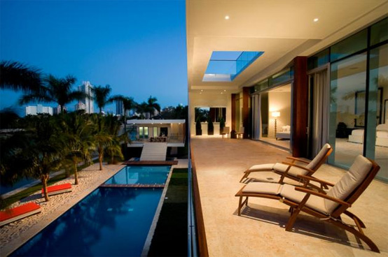 Waterfront Home On A Private Island In Miami Beach
