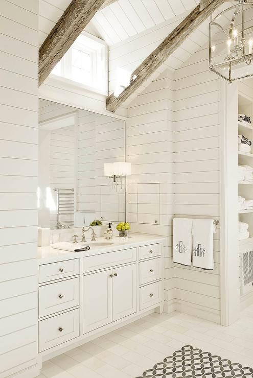 Picture Of ways to incorporate wooden beams into bathroom designs  1