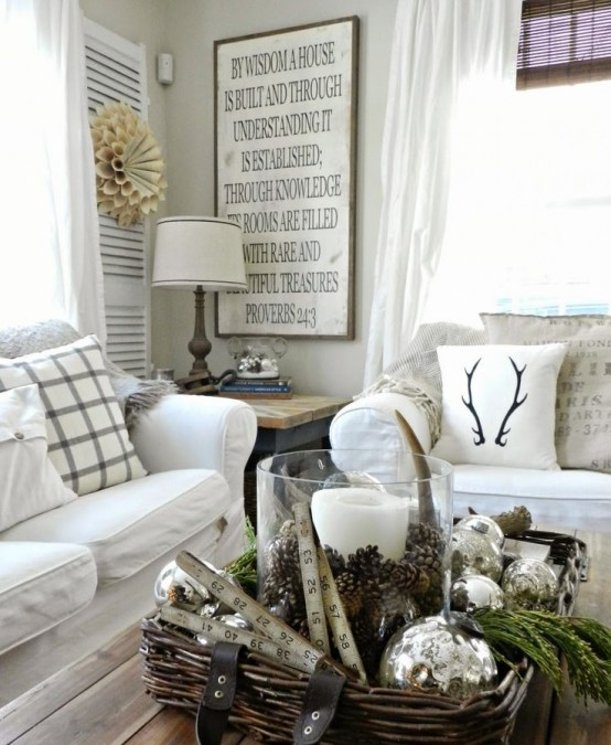 Winter Living Room Decorating: 28 Cool Ways To Cozy Up Your Living Room For Winter
