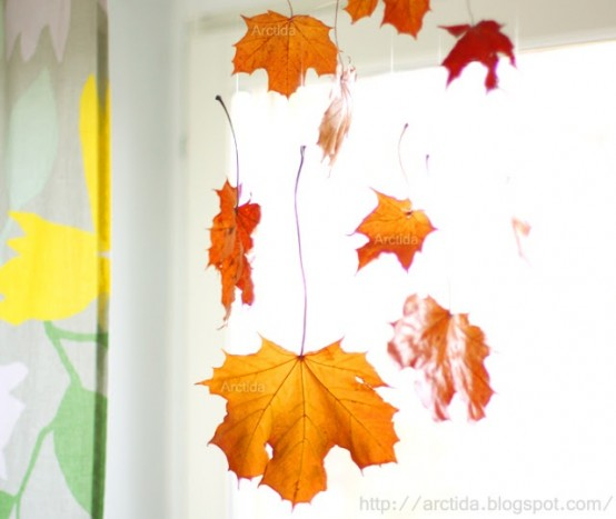 Decorate A Picture: 30 Cool Ways To Use Autumn Leaves For Fall Home Décor
