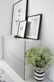IKEA Besta with gray doors on a floor