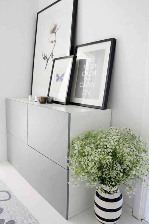 IKEA Besta with gray doors on a floor