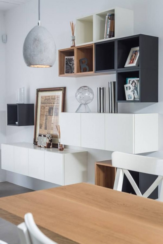 45 ways to use ikea besta units in home d cor digsdigs - Creative uses of floating shelves ikea for stylish storage units ...