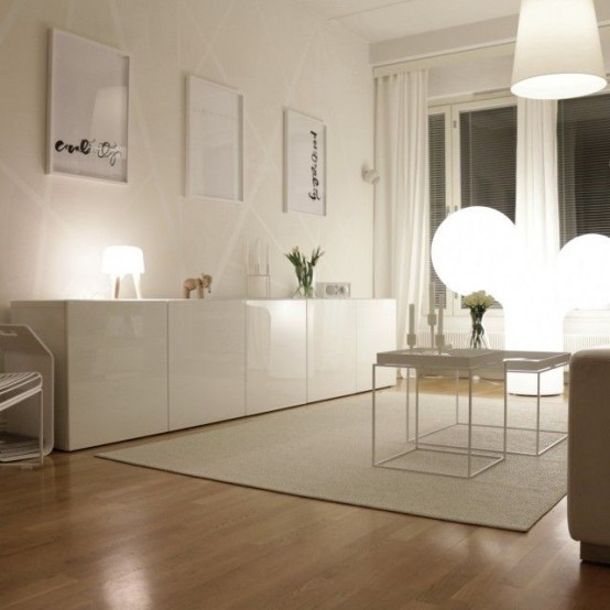 45 ways to use ikea besta units in home d cor digsdigs - Composition murale ikea ...