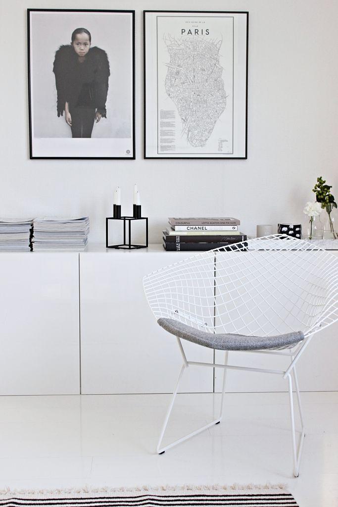 White IKEA Besta on a floor