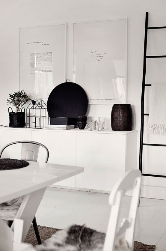Hanging white IKEA Besta unit