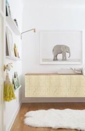 Modified hanging IKEA Besta unit