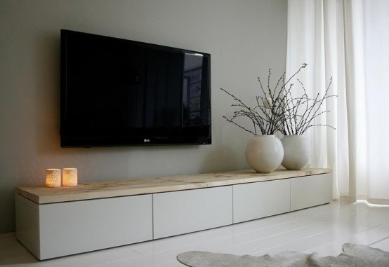 45 ways to use ikea besta units in home d cor digsdigs - Besta wohnzimmer ...