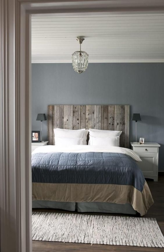 Ideal weathered wood masculine headboard