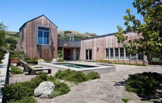 West Marin Ranch With Rustic Decor And Sustainable Solutions