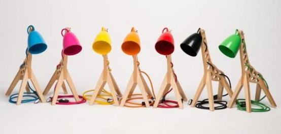 Whimsical And Colorful Giffy Table Lamp