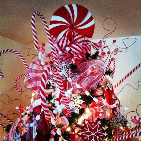 Christmas Bow Tree Topper