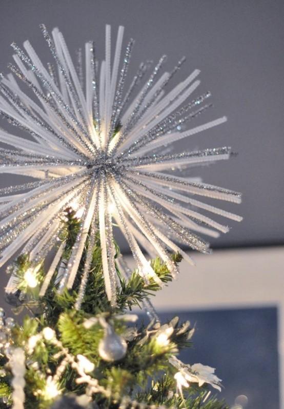 9 Flocked Christmas Tree