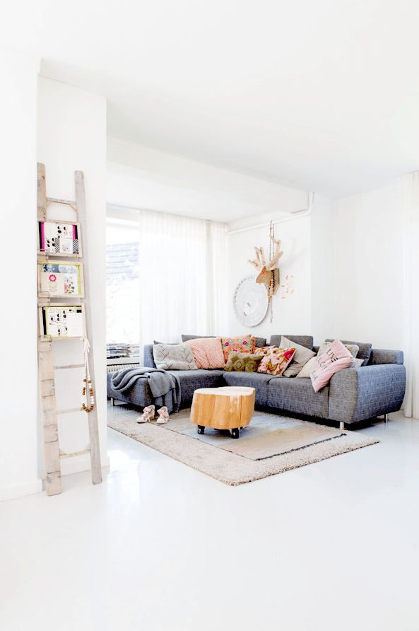 Whimsy And Playful Family Home With Vintage Furniture