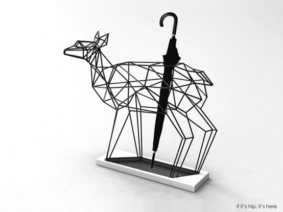 Whimsy Deer And Crane Umbrella Stands With Origami Like Silhouettes