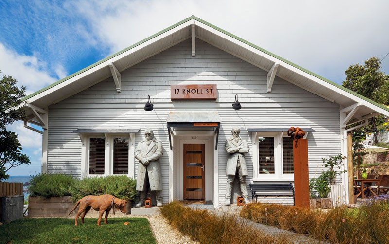 Whimsy Sculptor's Home With Lots Of His Works