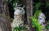 Whimsy Sculptors Home With Lots Of His Works