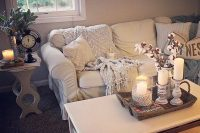 white Ektorp for a glam farmhouse living room