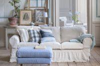 white Ektorp slipcover for a vintage home