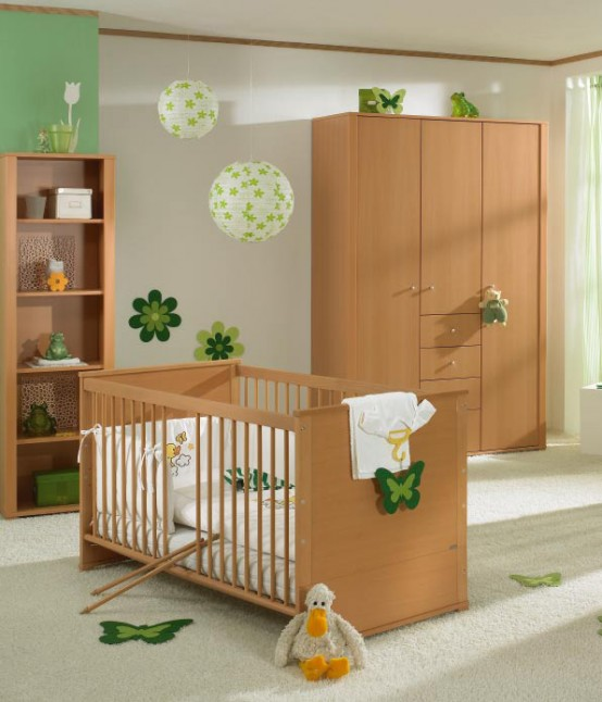Fesselnd White And Wood Baby Nursery Furniture Sets By Paidi