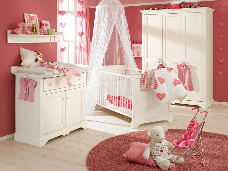 18 nice baby nursery furniture sets and design ideas for for Baby girls bedroom designs