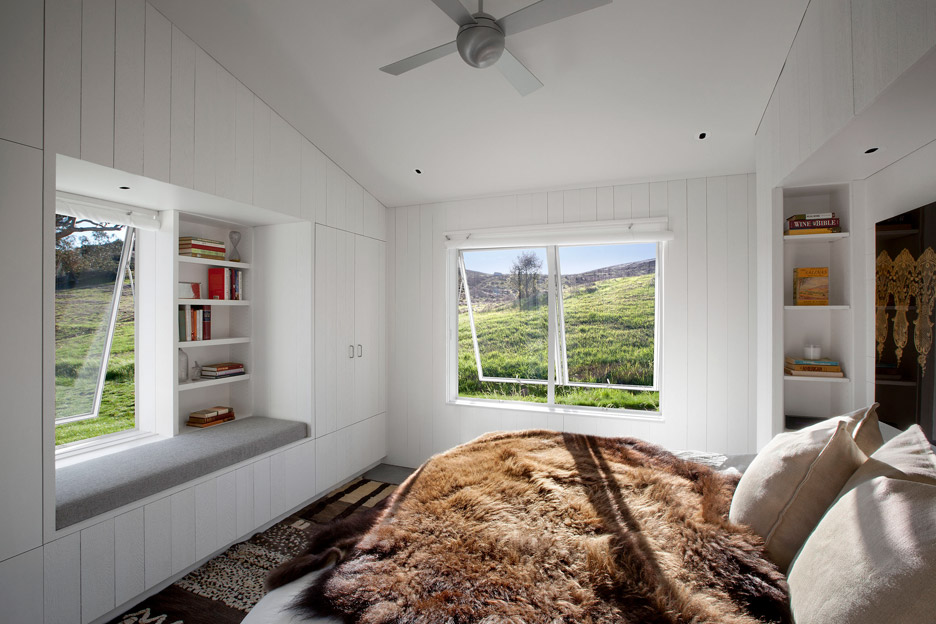 Picture Of white barn like house with modenr features  8