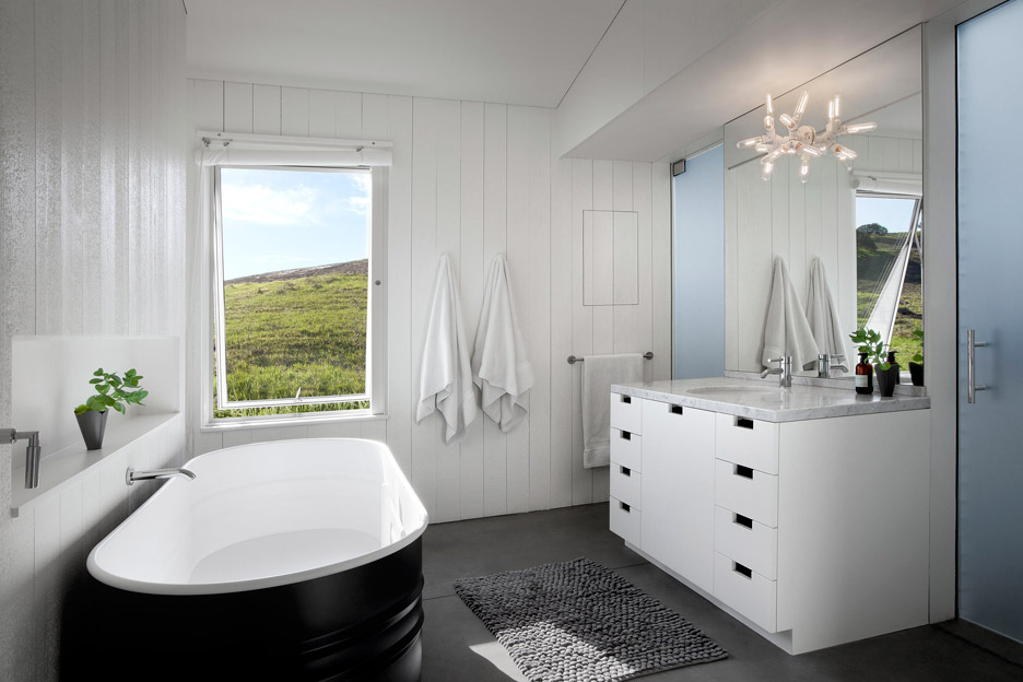 Picture Of white barn like house with modenr features  9